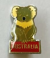 Koala Bear Australia Authentic Souvenir Pin Badge Vintage Pinback (D4)