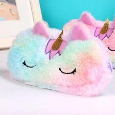 Cute Unicorn Plush Pencil Case Pen Pouch Phone Bag Girl's Kid's School Supplies