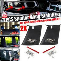 2Pcs Spoiler Wing Stiffi Support Stabilizer Fit For Subaru Impreza WRX STi 02-07