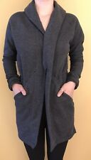 Lululemon Size 4 &go Take You There Wrap Jacket Sweatshirt Heathered Black Run