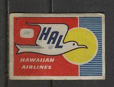 Matchbox/Airlines - no.4 Hawaiian Airlines Labels/Lucifer-Etiketten