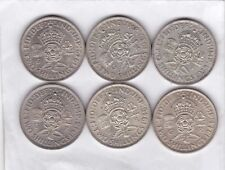 More details for 1938/1939/1942/1944/1946 & 1948 george vi florins in good fine and better
