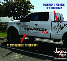 Ford Raptor SVT F150 Bedside Vinyl Graphics Decals 2010 - 2019 with Install Kit!