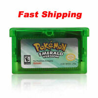 Pokemon Emerald Version Advance Gameboy Cartridge Game Card for NDSL GBC,Gift