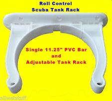 "Roll Control PVC 11"" Track Bar w/ Adjustable Scuba Tank Racks dive rack holder"