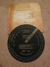 Computer True Airspeed A.C. Type G-1, WWII, Box and AAF form dated 4/21/1948