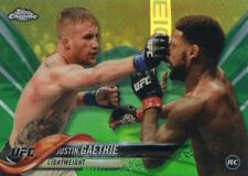 2018 Topps UFC Chrome JUSTIN GAETHJE Fighter RC Rookie Green Recfractor #/99