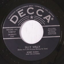 BOBBY DARIN: Dealer In Dreams / Silly Willy 45 (Canada) Oldies