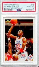 1991/92 Upper Deck All-Star Checklist Michael Jordan #48 PSA 8