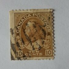 Canadian 1911 KGV Admiral 10 cent used stamp brown