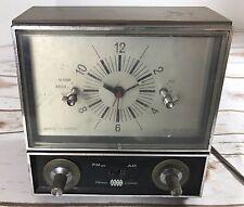 Vintage Ross Wake-o-Matic 5500 Mid Century  Clock  Radio Retro Works