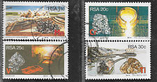 SOUTH AFRICA 1984 MINERALS COMPLETE SET OF POSTALLY USED 0353