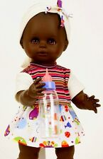 Schildkröt Puppenkleidung für 40 cm Schwesterchen, Sommerset mit Ringelshirt