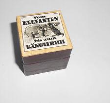 Alter Rollfilm Diafilm Vom Elefanten bis zum Känguruh Elgo Film Zoo DDR !