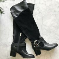 NEW Marc Fisher $160 Editer Black Leather Knee Boots