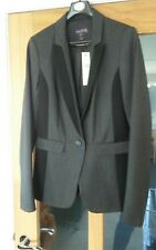 BNWT Long Tall Sally Tailored Suit Jacket Grey and Black Size 10