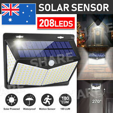 Flood Lights Solar Light PIR Motion Sensor 208 LEDs lamp Garden Outdoor Security
