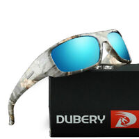 DUBERY Men's Polarized Sunglasses Wrap Frame Cycling Outdoor Sport Driving UV400