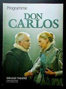 Don Carlos programme Gielgud Theatre 2005 Derek Jacobi Richard Coyle Una Stubbs