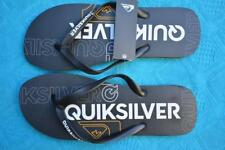 New Quality QUIKSILVER Surf Thongs MOLOKAI NITRO Mens Size 15. Black-White-Gold