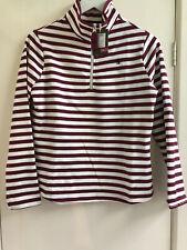 Joules ladies Size 8 Sweatshirt striped  1/2 zip