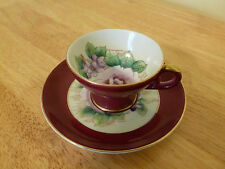 SHAFFORD TEA CUP AND SAUCER RED AND GOLD HAND DECORATED JAPAN