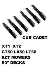 """6 Cub Cadet Troybilt Mtd Mower Blade Fit 942-05052A 742-05052A  XT1/XT2 50"""" Deck"""
