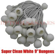 "(50) 9"" WHITE BALL BUNGEE Bungie Cord Heavy Duty Canopy Tarp Tie Down Accessory"
