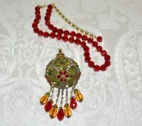 NIB $250 HEIDI DAUS *Holiday Sparkle* Dazzling Crystal Pendant Pin Necklace