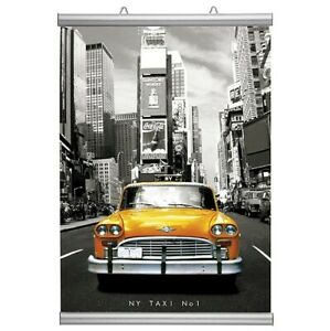 A2 / A3 420mm 16.5in Aluminium Hanging Poster Snap Profiles Display Sign Frame