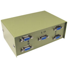 More details for 4 way port d9 serial switch box - for pc computer screen monitor sharing - beige