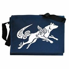 Okami Amaterasu Wolf inspired Navy Blue Messenger Shoulder Bag