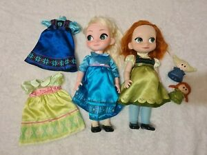 Singing talking Elsa And Anna Dolls with dresses and figures