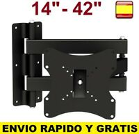 "Soporte de pared para tv LCD LED Plasma 14"" A 42"" SMART 4K Giratorio Inclinable"