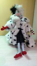 """Authentic Disney Cruella Doll 101 Dalmatians  Faux Fur Coat 18"""" NWT"""