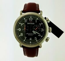 Shinola Runwell Chrono Chicago Tan Leather Strap Watch