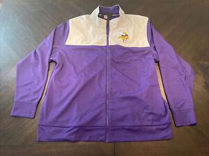 NEW Nike Minnesota Vikings NFL Full Zip Jacket NKB6-008Y Men Size XXL
