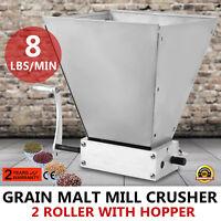 Homebrew Grain Mill Barley Grinder Large Batches Malt Crusher Sliver Home