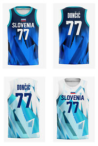 2021 Japan Doncic #77 Dragic #3 Team Slovenia Basketball Jersey Custom Name