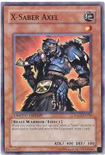 3 x Yu-Gi-Oh Card - HA01-EN010 - X-SABER AXEL (super rare holo) - NM/Mint