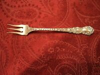 """5-1//2/"""" No Mono S Kirk /& Son Repousse Sterling Silver Ice Cream Fork"""