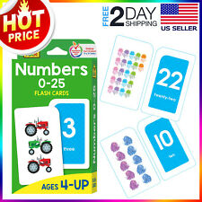 Numbers 0-25 flash cards for toddlers Preschool Kids Babies Early Learning Math