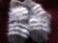 kids children's SOCKS 100% ANGORA BUNNY RABBIT yarn  longhair handknitted craft