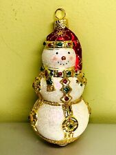 Patricia Breen Bejeweled Snowman Gold w Red Hat Neiman Marcus Excl #2100Nm 2001