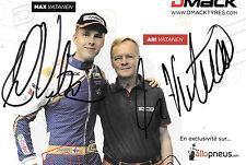 El Señor Vatanen nos & Max Señor Vatanen nos firmado, neumáticos DMACK promocard Retrato