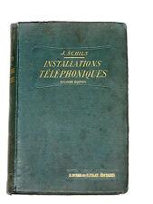 Installations téléphoniques Piles Téléphone Bell Microphone Edison Tableau Sieur