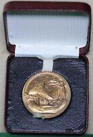 Queen Elizabeth II Bronze Coronation Medal, 1953. Royal Barge Reverse. As Struck