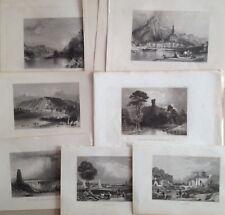 10 gravures 1850 Dinant Namur Waterloo Crève-Cœur Meuse