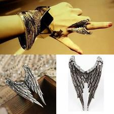 Punk Adjustable Alloy Fashion Accessories Angel Wings Finger Ring Rhinestone