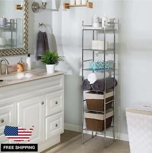 Bathroom Shelf Rack Metal 6 Tiers Tower Stand for Towels Accessories 59.8''